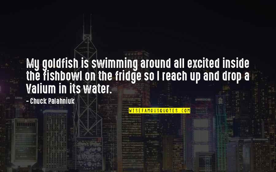 Reach Up Quotes By Chuck Palahniuk: My goldfish is swimming around all excited inside