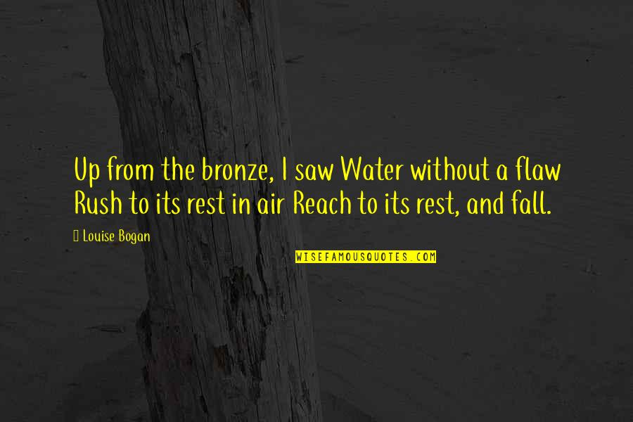 Reach Up Quotes By Louise Bogan: Up from the bronze, I saw Water without