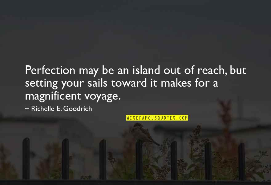 Reach Up Quotes By Richelle E. Goodrich: Perfection may be an island out of reach,