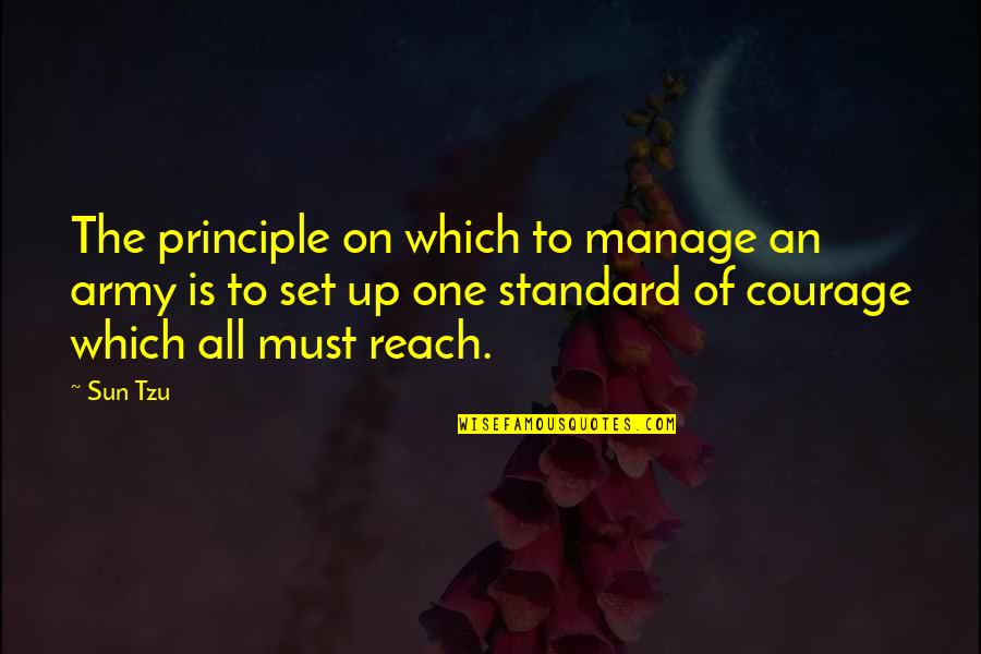 Reach Up Quotes By Sun Tzu: The principle on which to manage an army