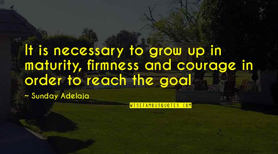Reach Up Quotes By Sunday Adelaja: It is necessary to grow up in maturity,