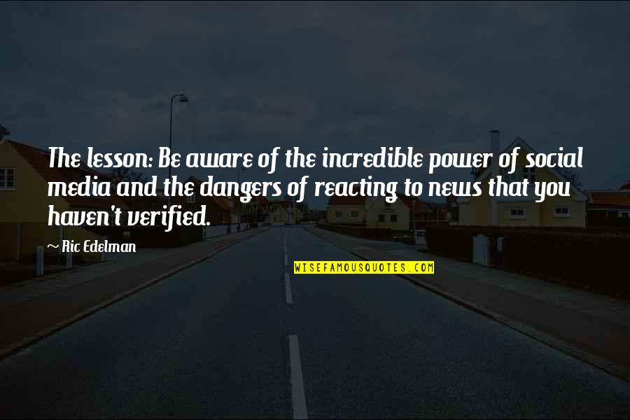 Reacting Quotes By Ric Edelman: The lesson: Be aware of the incredible power