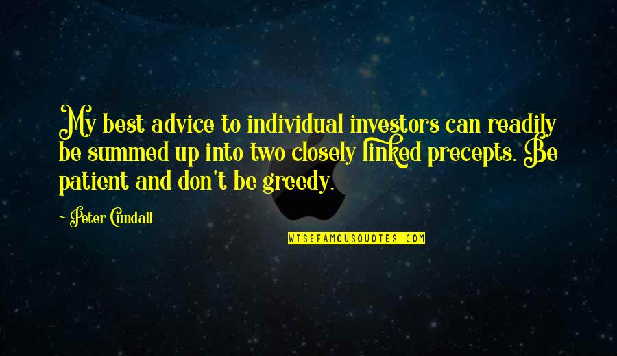 Readily Quotes By Peter Cundall: My best advice to individual investors can readily