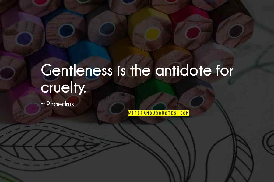 Reading Books Pinterest Quotes By Phaedrus: Gentleness is the antidote for cruelty.