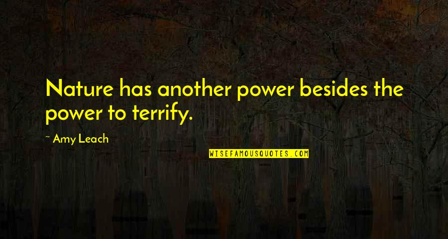 Reading By Famous Writers Quotes By Amy Leach: Nature has another power besides the power to