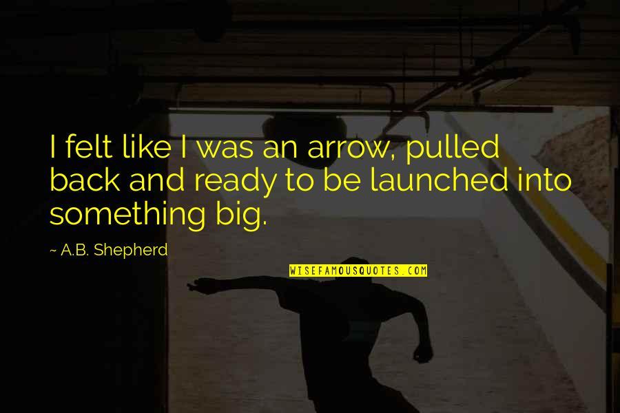 Ready Like Quotes By A.B. Shepherd: I felt like I was an arrow, pulled