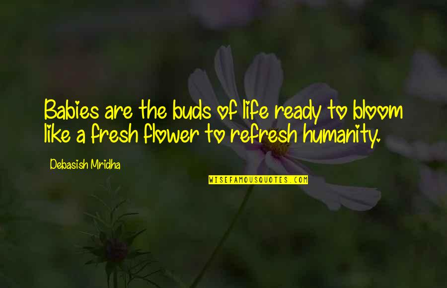 Ready Like Quotes By Debasish Mridha: Babies are the buds of life ready to