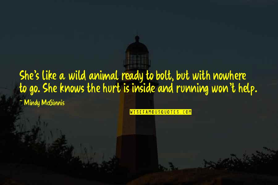 Ready Like Quotes By Mindy McGinnis: She's like a wild animal ready to bolt,
