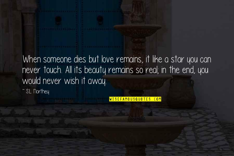 Real Love Never Dies Quotes By S.L. Northey: When someone dies but love remains, it like