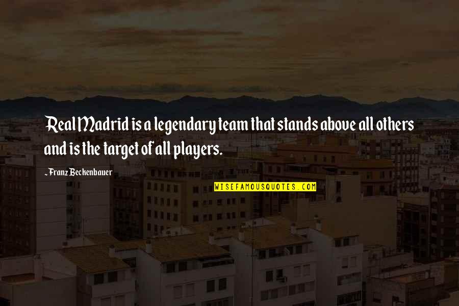 Real Player Quotes By Franz Beckenbauer: Real Madrid is a legendary team that stands