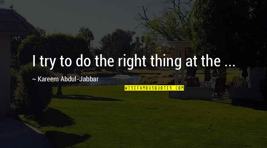 Real Time Forex Quotes By Kareem Abdul-Jabbar: I try to do the right thing at