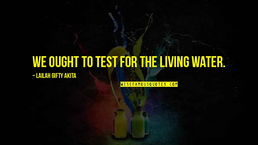 Realisation Quotes By Lailah Gifty Akita: We ought to test for the living water.