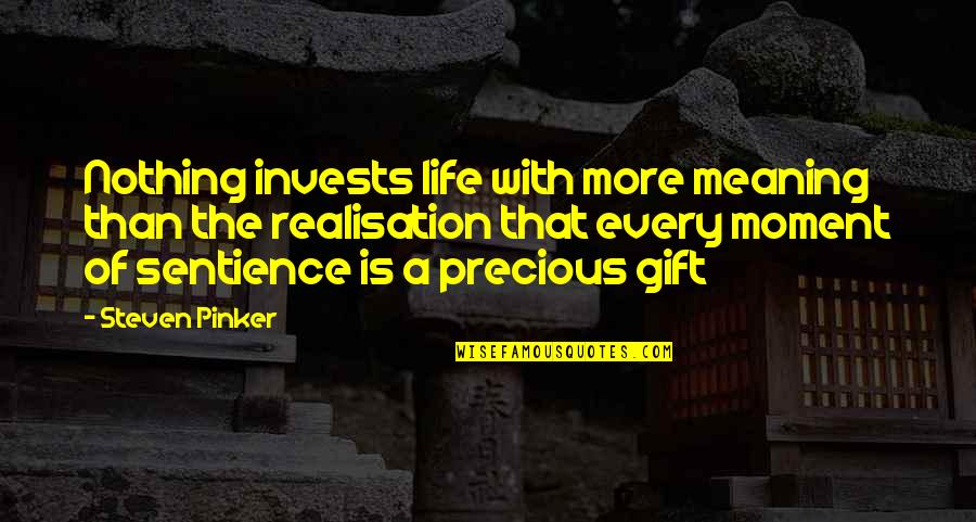 Realisation Quotes By Steven Pinker: Nothing invests life with more meaning than the