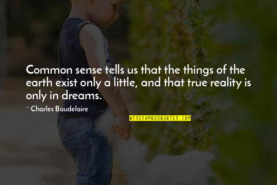 Reality And Dreams Quotes By Charles Baudelaire: Common sense tells us that the things of