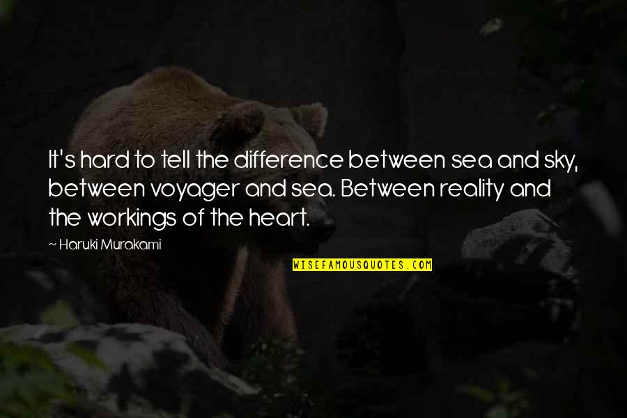 Reality And Quotes By Haruki Murakami: It's hard to tell the difference between sea