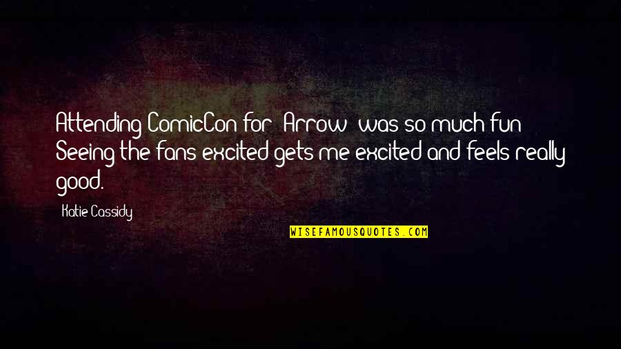 Really Seeing Quotes By Katie Cassidy: Attending ComicCon for 'Arrow' was so much fun!