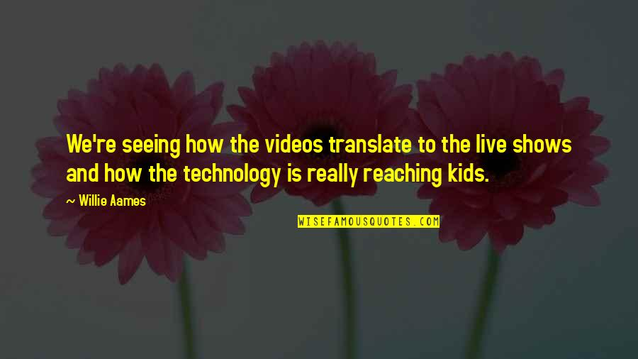 Really Seeing Quotes By Willie Aames: We're seeing how the videos translate to the