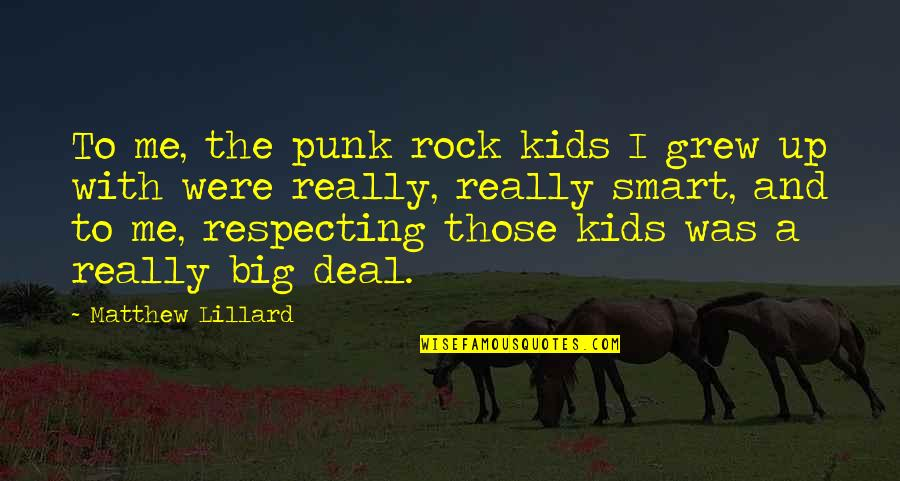 Really Smart Quotes By Matthew Lillard: To me, the punk rock kids I grew