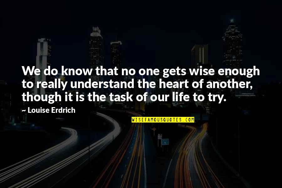 Really Though Quotes By Louise Erdrich: We do know that no one gets wise