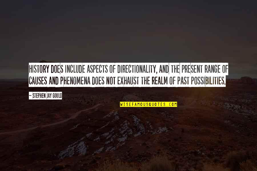 Realm Of Possibilities Quotes By Stephen Jay Gould: History does include aspects of directionality, and the