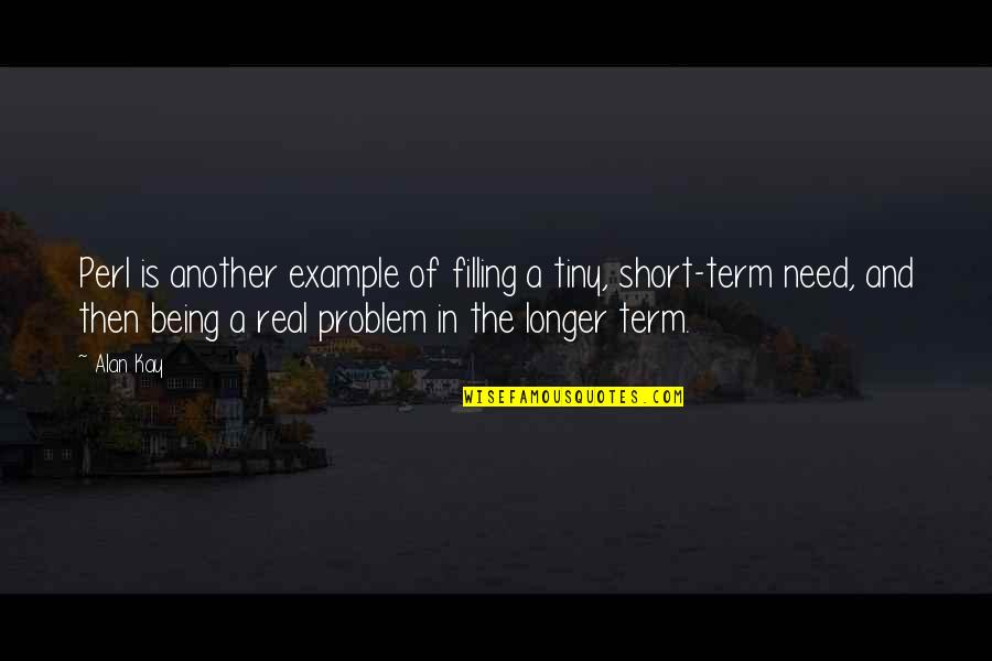 Reaping Harvest Quotes By Alan Kay: Perl is another example of filling a tiny,