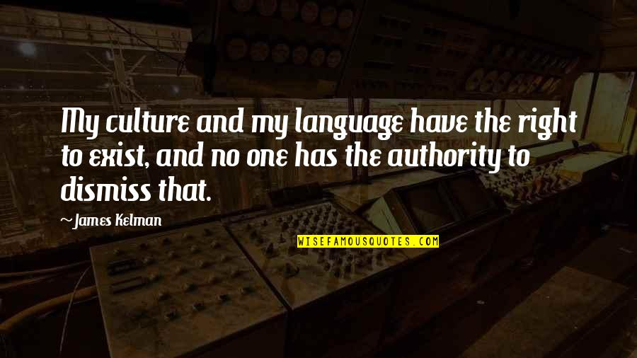 Rebounding Basketball Quotes By James Kelman: My culture and my language have the right