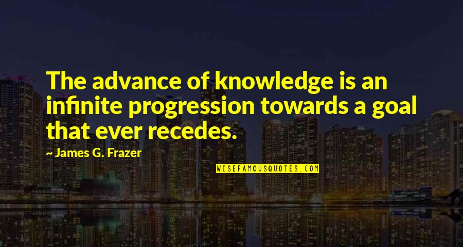 Recedes Quotes By James G. Frazer: The advance of knowledge is an infinite progression