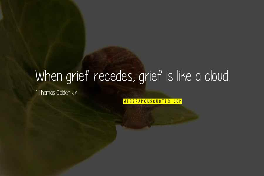 Recedes Quotes By Thomas Golden Jr.: When grief recedes, grief is like a cloud.
