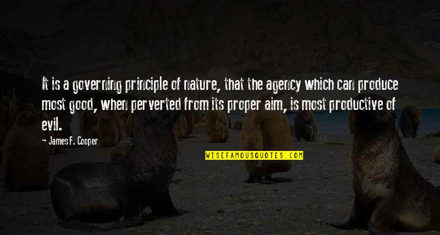 Receiving Positive Feedback Quotes By James F. Cooper: It is a governing principle of nature, that