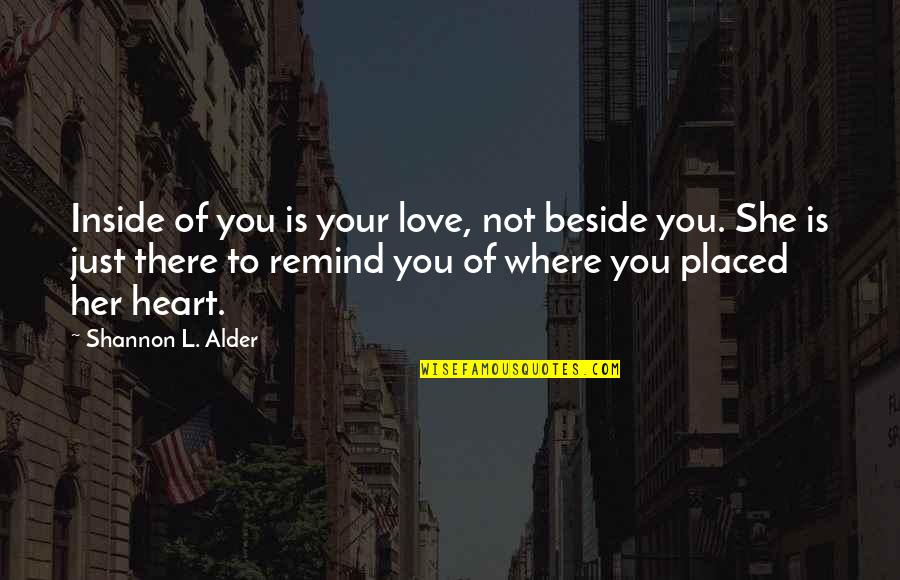 Receiving Positive Feedback Quotes By Shannon L. Alder: Inside of you is your love, not beside