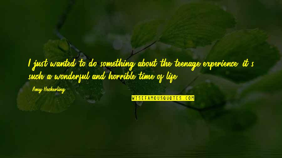 Reciprocity In Love Quotes By Amy Heckerling: I just wanted to do something about the