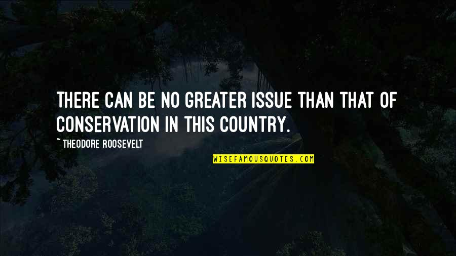 Recopied Quotes By Theodore Roosevelt: There can be no greater issue than that