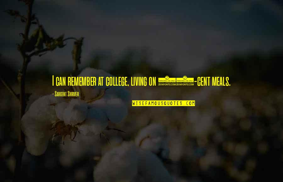 Redburn Herman Melville Quotes By Sargent Shriver: I can remember at college, living on 30-cent