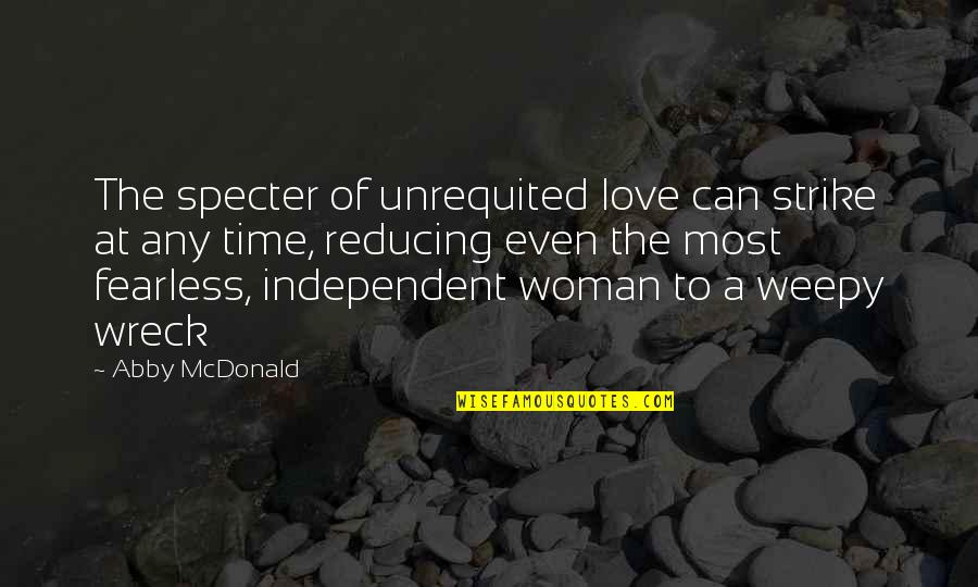 Reducing Quotes By Abby McDonald: The specter of unrequited love can strike at