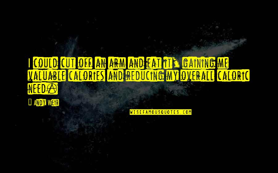 Reducing Quotes By Andy Weir: I could cut off an arm and eat