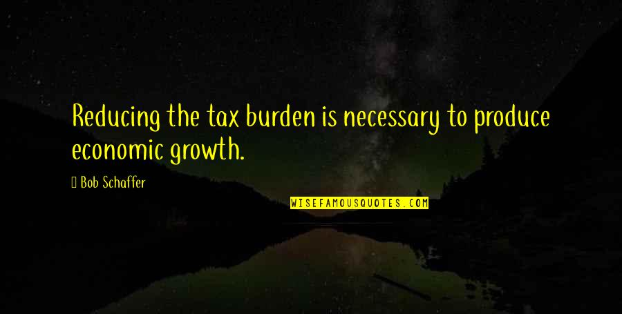 Reducing Quotes By Bob Schaffer: Reducing the tax burden is necessary to produce