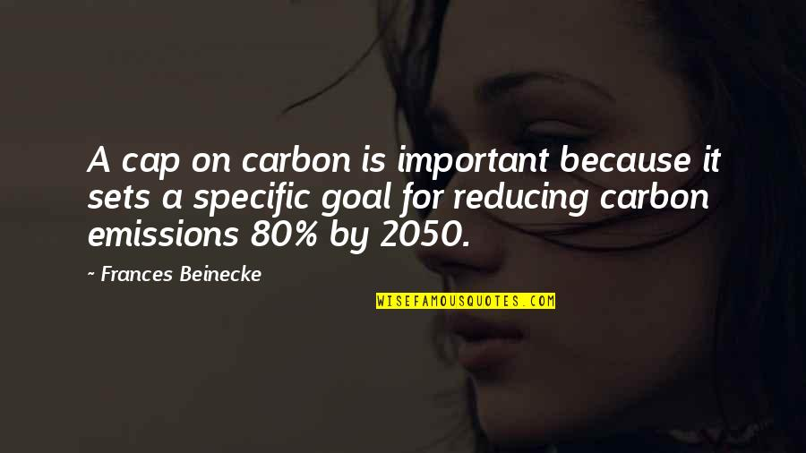 Reducing Quotes By Frances Beinecke: A cap on carbon is important because it