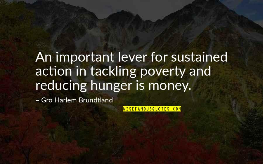 Reducing Quotes By Gro Harlem Brundtland: An important lever for sustained action in tackling