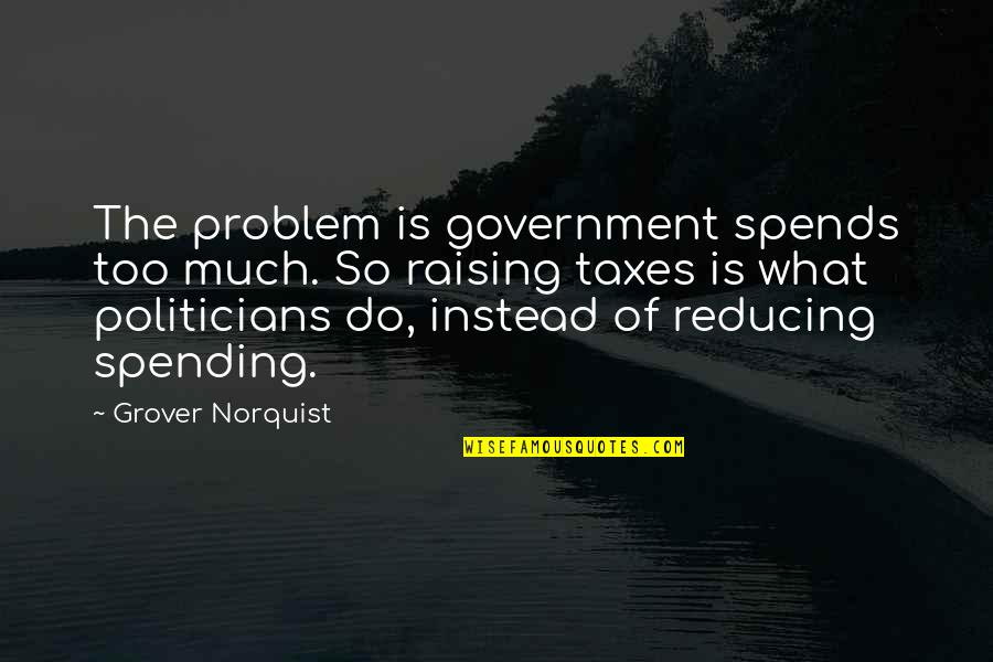 Reducing Quotes By Grover Norquist: The problem is government spends too much. So
