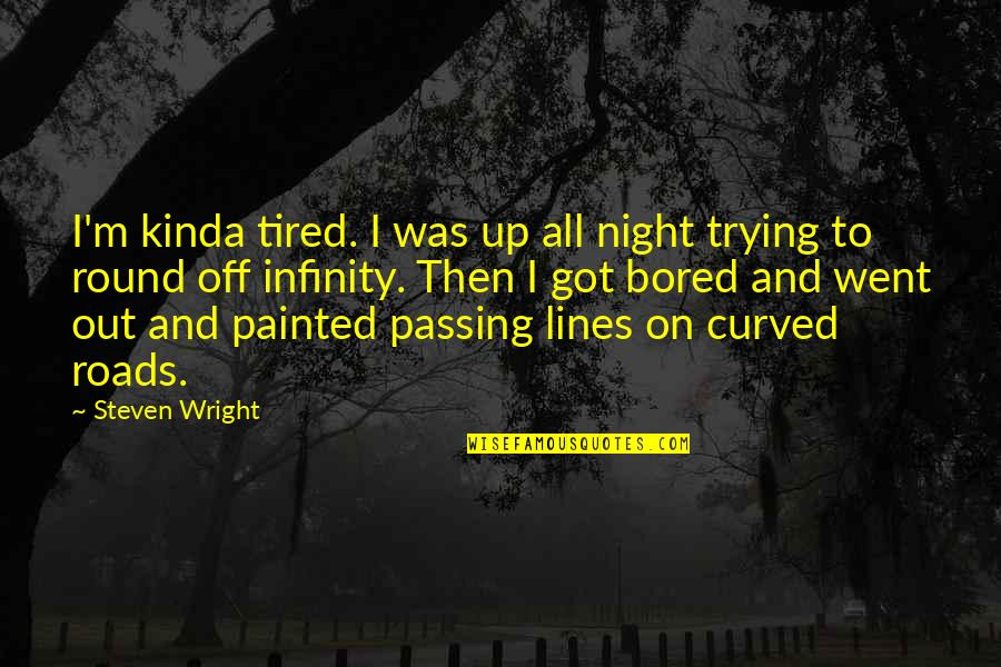 Refusing To Be Defeated Quotes By Steven Wright: I'm kinda tired. I was up all night