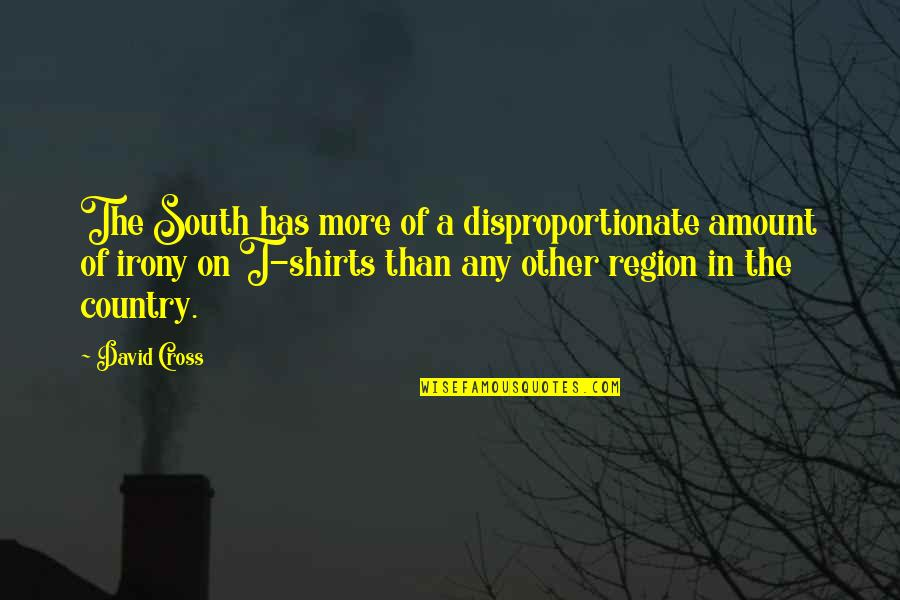 Region Quotes By David Cross: The South has more of a disproportionate amount