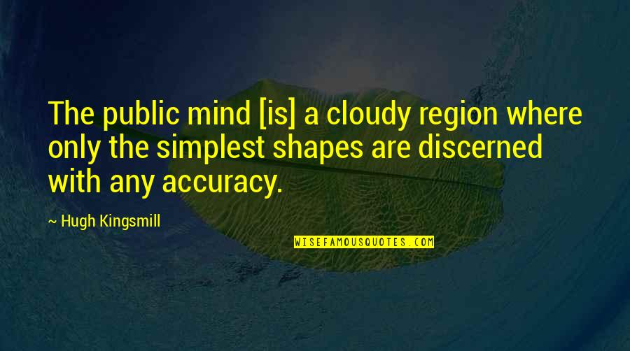 Region Quotes By Hugh Kingsmill: The public mind [is] a cloudy region where