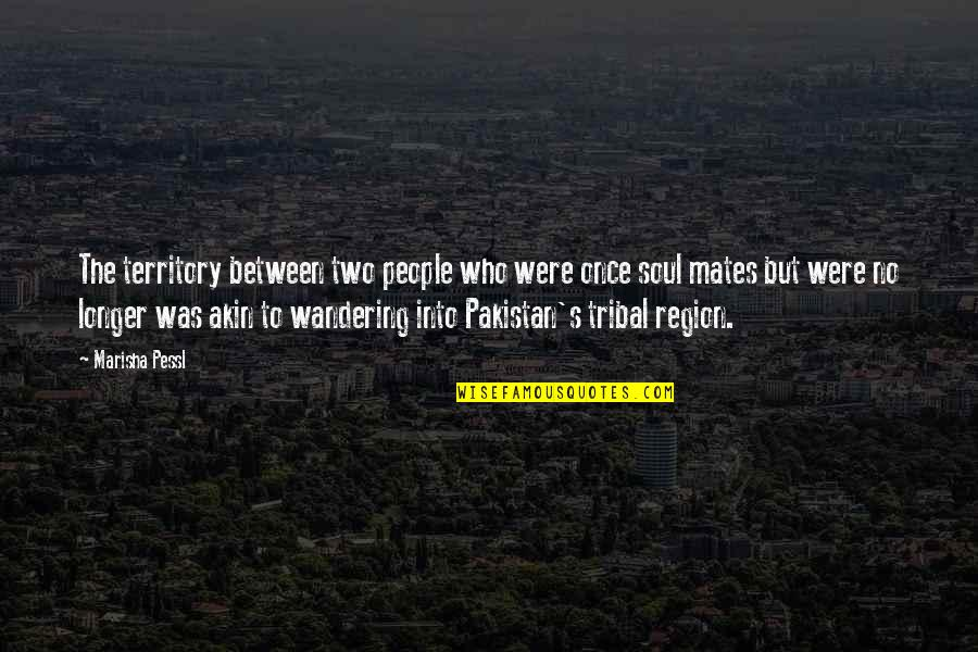 Region Quotes By Marisha Pessl: The territory between two people who were once