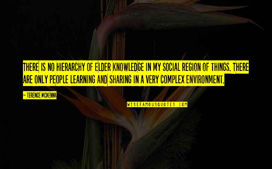 Region Quotes By Terence McKenna: There is no hierarchy of elder knowledge in