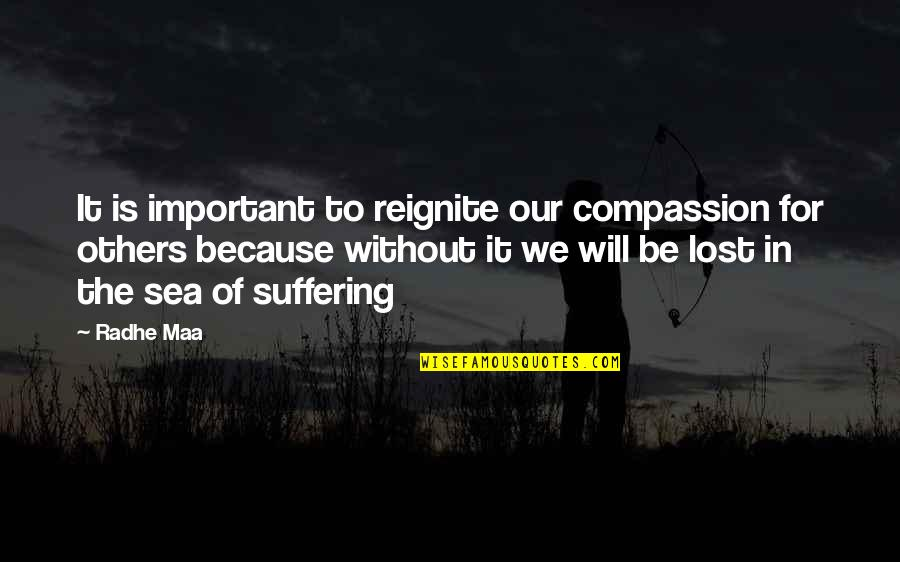 Reignite Quotes By Radhe Maa: It is important to reignite our compassion for