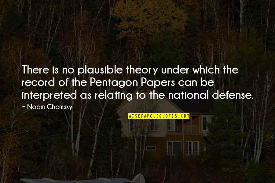 Relating Quotes By Noam Chomsky: There is no plausible theory under which the
