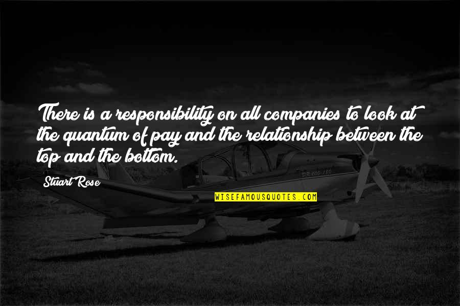 Relationship And Quotes By Stuart Rose: There is a responsibility on all companies to
