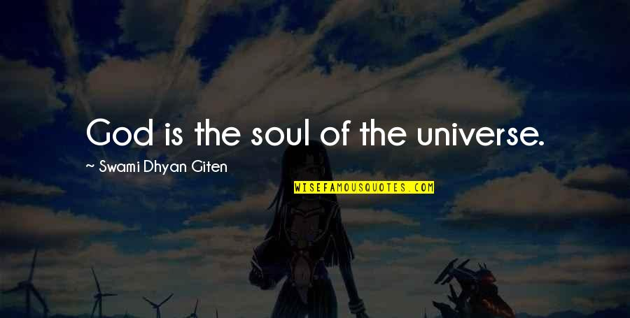 Relationships With God Quotes By Swami Dhyan Giten: God is the soul of the universe.