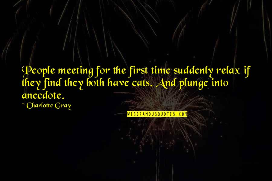 Relax Time Quotes By Charlotte Gray: People meeting for the first time suddenly relax