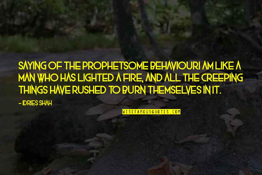 Religion Islam Quotes By Idries Shah: Saying of the ProphetSome behaviourI am like a